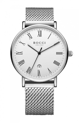宝驰BC004男款钢带手表|BOCCI Men's Quartz Stainless Steel Watch(BC004G)