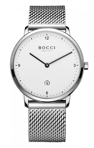宝驰BC001G-2男士钢带手表|BOCCI Men's Quartz Stainless Steel Watch(BC001G-2)