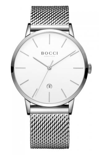 宝驰BC002男士钢带手表|BOCCI Men's Quartz Stainless Steel Watch(BC002G)