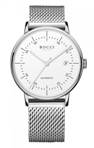 宝驰BC003男士钢带手表|BOCCI Men's Automatic Waterproof Watch(BC003G)