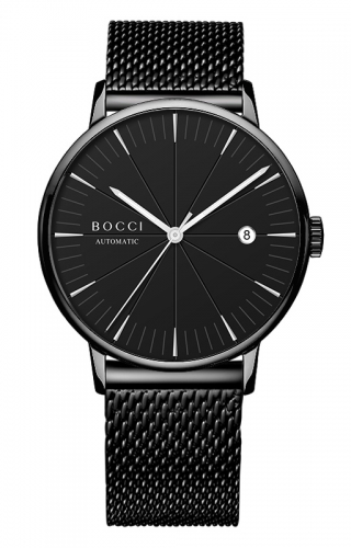 宝驰BC005男士机械钢带腕表|BOCCI Men's Automatic Waterproof Stainless Steel Watch(BC005)