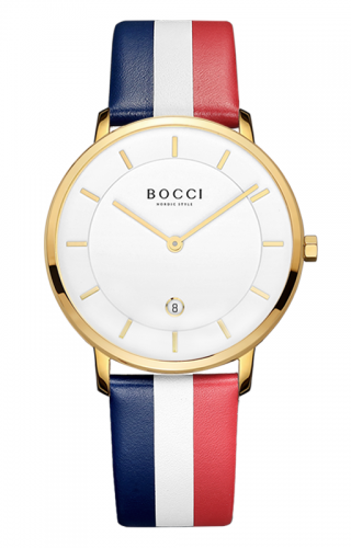 宝驰BC001男士皮带腕表|BOCCI Men's Quartz Colorful Leather Strap Watch (BC001)