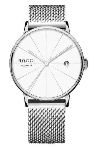 宝驰BC006男士机械腕钢带表|BOCCI Men's Automatic Waterproof Stainless Steel Watch(BC006G)