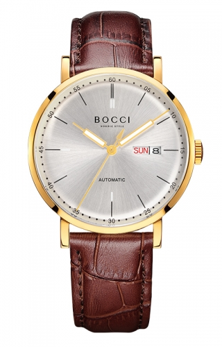 宝驰BC009 班斯克之光机械皮带表|BOCCI Light Of Bansko Automatic Leather Strap Watch (BC009)