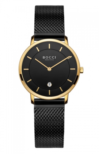 宝驰BC001G女款超薄钢带手表|BOCCI Women's Quartz Untra-thin Stainless Steel Watch (BC001G)