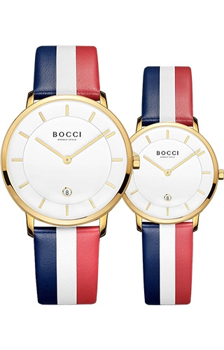 宝驰BC001QL皮带款情侣腕表|BOCCI Couple Quartz Leather Strap Watch (BC001QL)