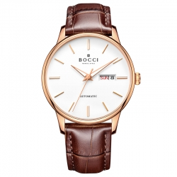 宝驰BC011男士机械皮带腕表|BOCCI Men's Automatic Waterproof Leather Strap Watch(BC011)