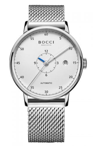 宝驰BC007男士机械钢带腕表|BOCCI Men's Automatic Waterproof Stainless Steel Watch (BC007G)