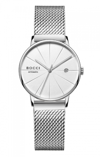 宝驰BC006女款机械钢带手表|BOCCI Women's Automatic Stainless Steel Watch(BC006LG)