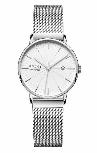 宝驰BC005女款机械钢带手表|BOCCI Women's Automatic Stainless Steel Watch(BC005LG)